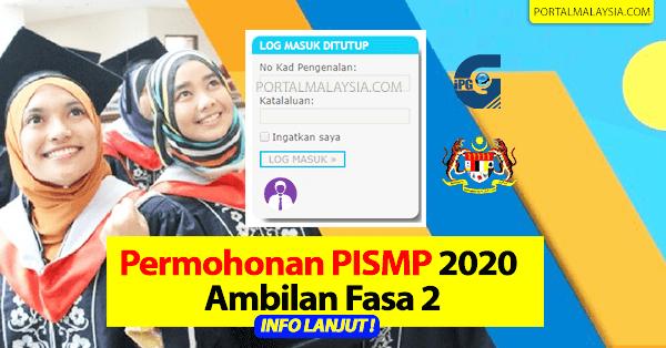 permohonan ipg pismp 2020 fasa 2