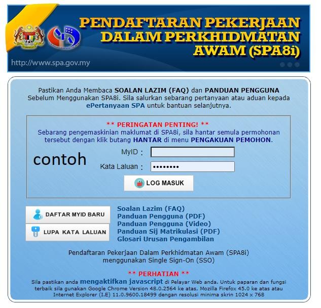 Spa8i Portal Malaysia