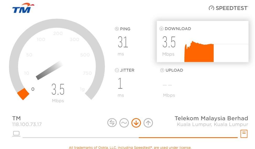 Tm Speed Test Unifi Streamyx