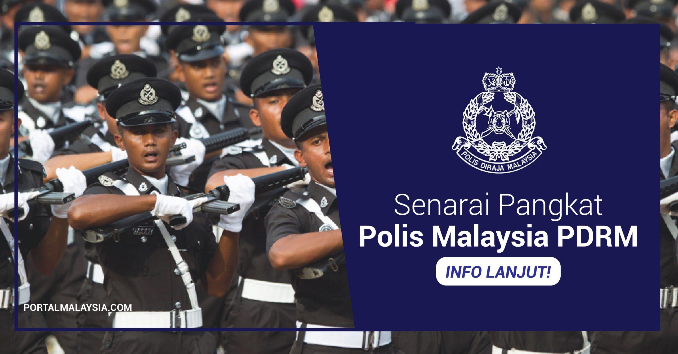 pangkat polis malaysia pdrm