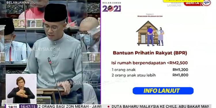 Bantuan Prihatin Rakyat Sehingga RM 1,800 Antara Tumpuan Utama Belanjawan 2021