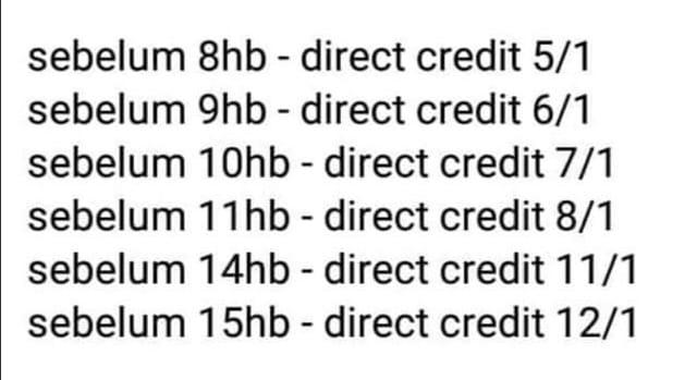 tarikh pembayaran i sinar kwsp kategori 1