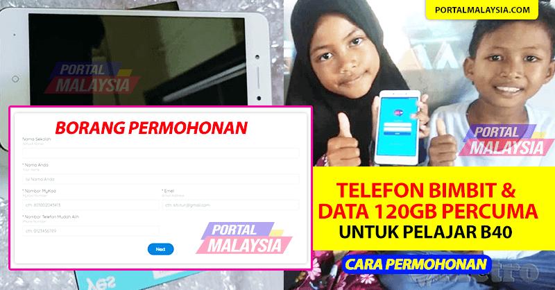 Bantuan Telefon Pintar Percuma B40 2021