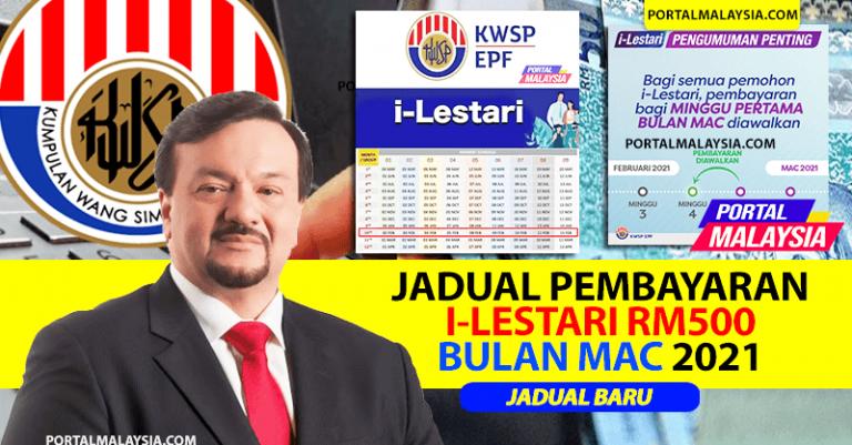 Tarikh Jadual Bayaran i Lestari KWSP Mac 2021 JADUAL BARU terkini