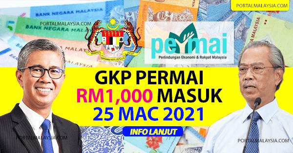 Bayaran GKP PERMAI RM1,000 Pada 25 Mac 2021