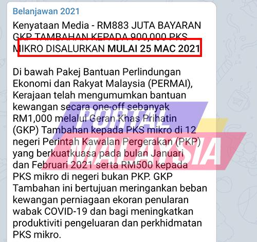 GKP PERMAI GKP TAMBAHAN RM1000
