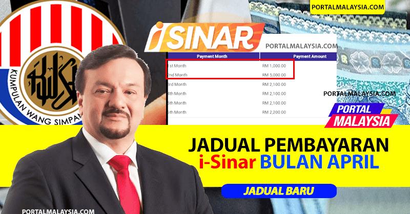 Tarikh Pembayaran i-Sinar April 2021