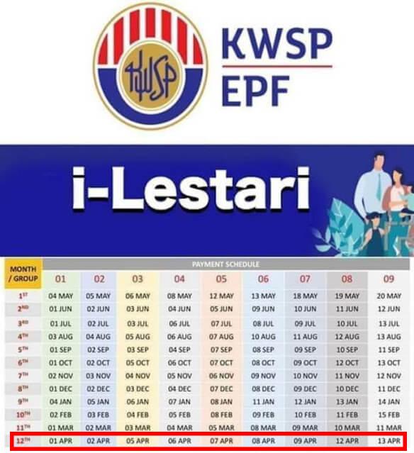 tarikh-jadual-i-lestari-bulan-april-2021 jadual penuh