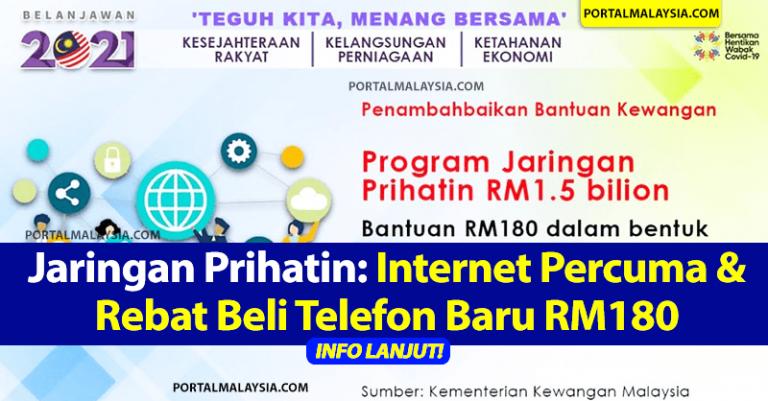 Jaringan Prihatin: Internet Percuma & Rebat Beli Telefon Baru RM180