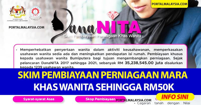 Mohon Skim Pembiayaan Perniagaan MARA Khas Wanita Sehingga RM50K