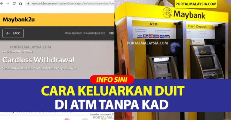 Ini Cara Nak Keluarkan Duit Di ATM Tanpa Kad, Jika Anda Terlupa Kad Bank