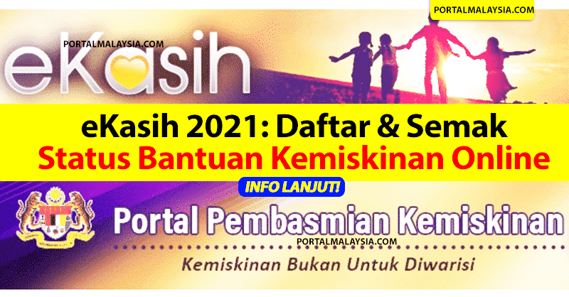 eKasih 2021: Daftar & Semak Status Bantuan Kemiskinan Online