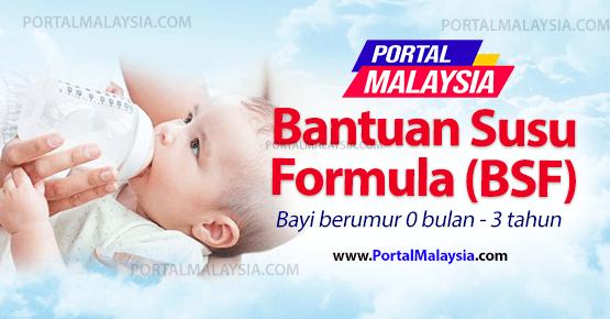 Borang Bantuan Susu Formula BSF bayi 0 bulan hingga 3 tahun