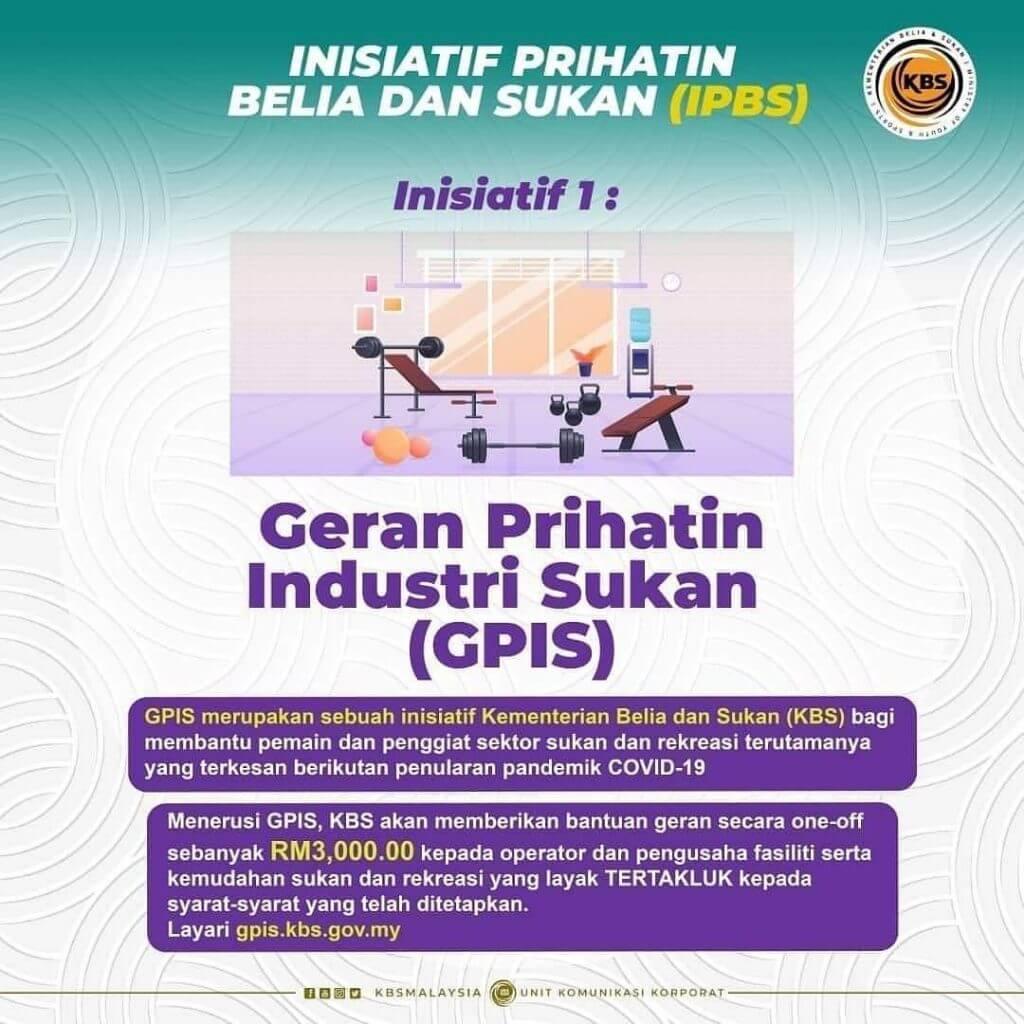 GPIS : Cara Mohon Geran Prihatin Insentif Sukan RM3000 One-off