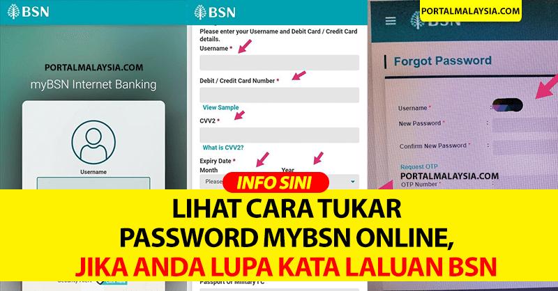 Lihat Cara Tukar Password MyBSN Online, Jika Anda Lupa Kata Laluan BSN
