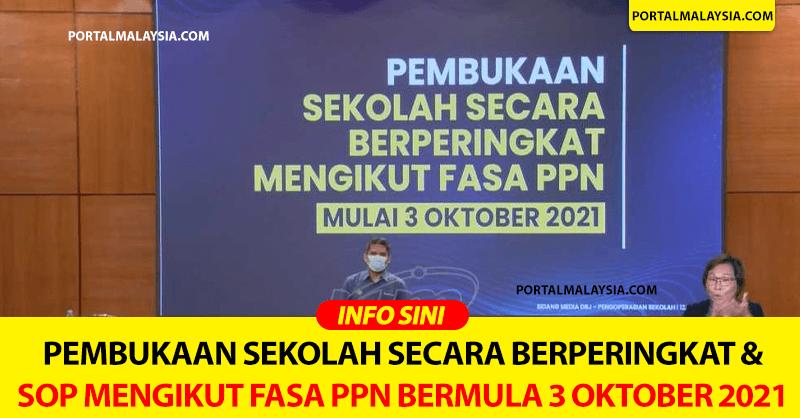 Pembukaan Sekolah Secara Berperingkat & SOP Mengikut Fasa PPN Bermula 3 Oktober 2021